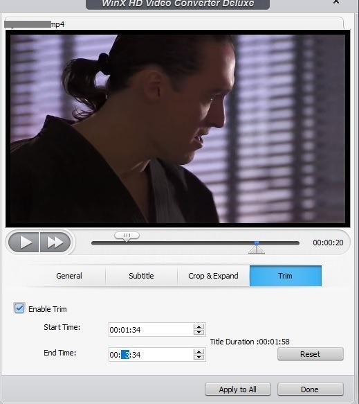 Winx Gratis Edit Video Pemangkasan