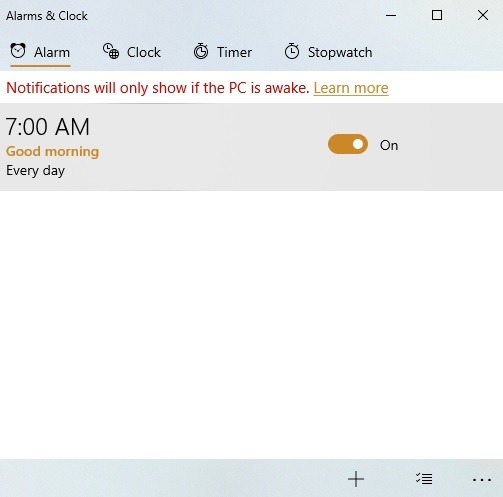 Windows10 Alarms Timers Alarms Klik