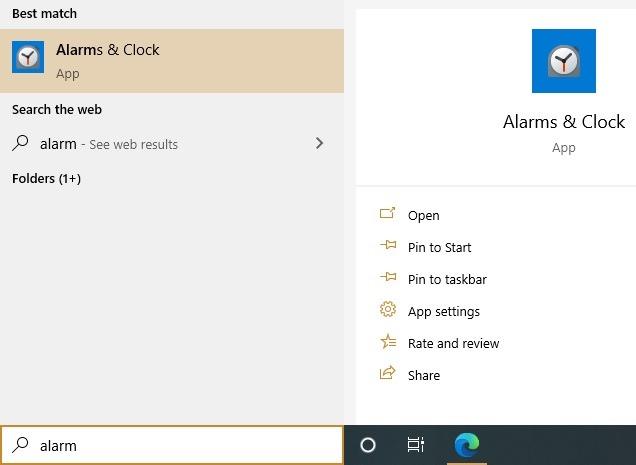 Aplikasi Windows10 Alarms Timer Alarms Clocks