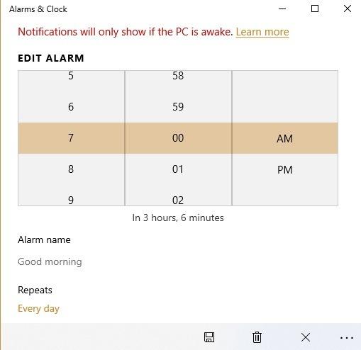 Windows10 Alarms Alarms Pengatur Waktu Edit