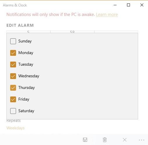Jadwal Alarm Pengatur Waktu Windows10