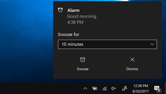 Windows10 Alarm Timer Merespon Alarm