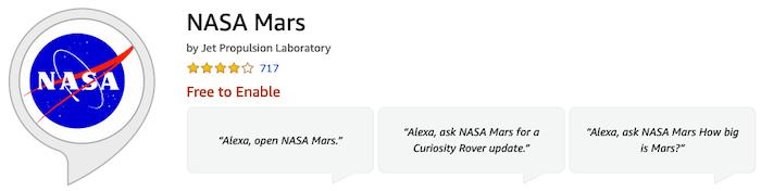 Keterampilan Alexa Mars NASA