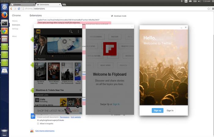 ARChon Runtime for Chrome adalah runtime eksperimental, yang memungkinkan untuk menjalankan aplikasi Android melalui Chrome.