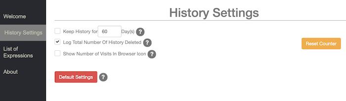 Anda dapat secara otomatis menghapus riwayat perambanan Google Chrome Anda.