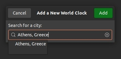 Periksa Waktu Dengan Jam Gnome Tambahkan Hijau