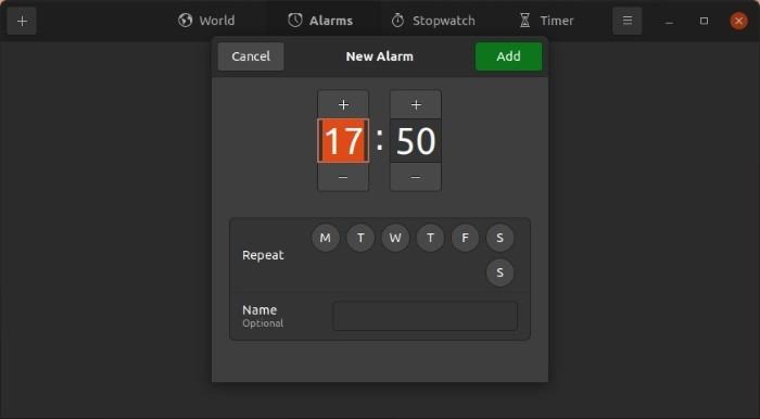 Periksa Waktu Dengan Alarm Jam Gnome 1