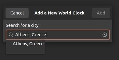 Periksa Waktu Dengan Jam Gnome Pilih Kota 1