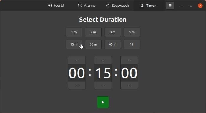 Periksa Waktu Dengan Timer Jam Gnome