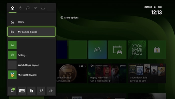 Reset Pabrik Xbox Quick Quide Menu