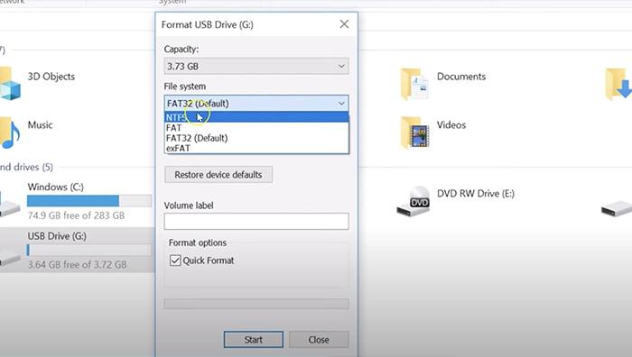 Reset Pabrik Pemformatan Xbox Windows Usb