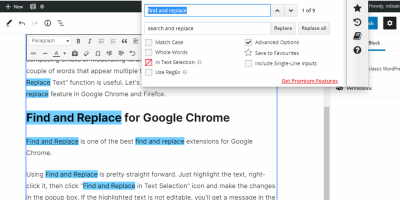 Find And Replace Text Chrome Header