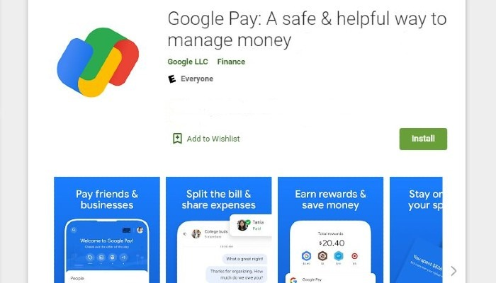 Google Pay Play Store