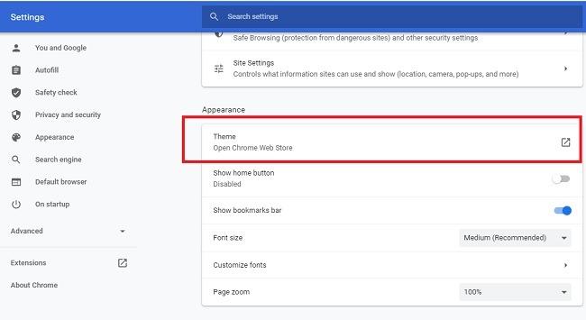 Bagaimana Mengubah Warna Dan Tema Pada Tampilan Chrome