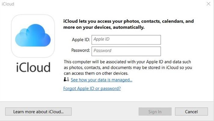 كيفية تسجيل الدخول إلى Icloud Windows