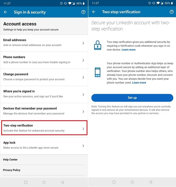 How To Two Factor Authentication Linkedin Mobile Turn On Option