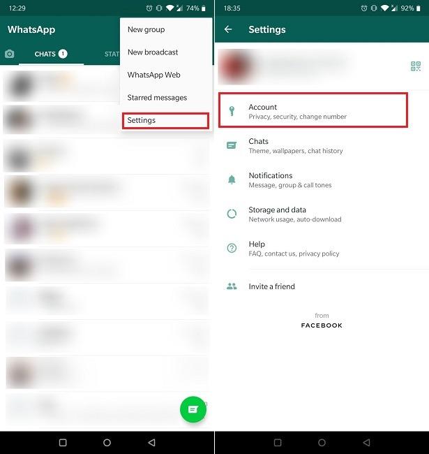 Cara Otentikasi Dua Faktor Pengaturan Akun Whatsapp Mobile