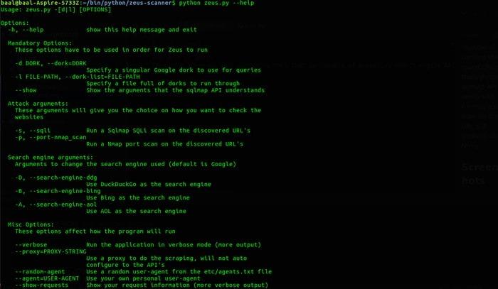 Linux Port Scanner Zeus