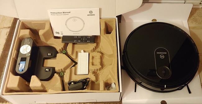 Moosoo Mt 720 Robot Vacuum Cleaner Review Box