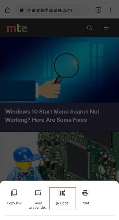 Qr Code Chrome Chrome Share Qr Code