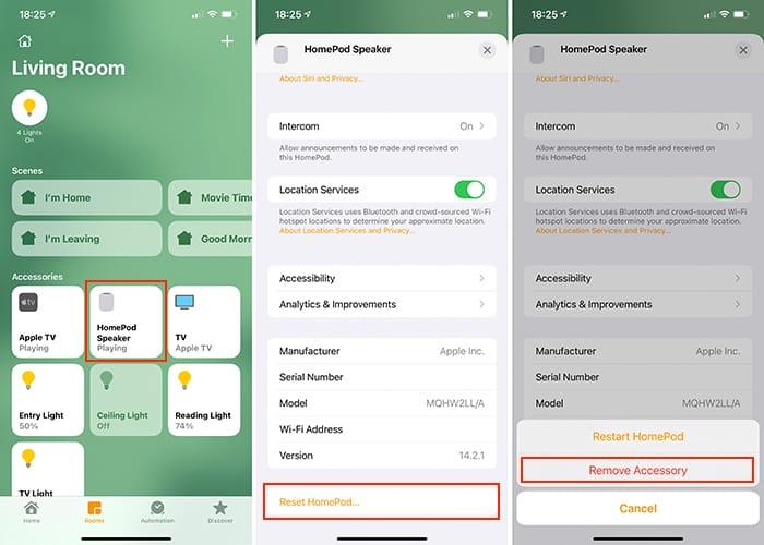 Setel Ulang Aplikasi Beranda Homepod Ios