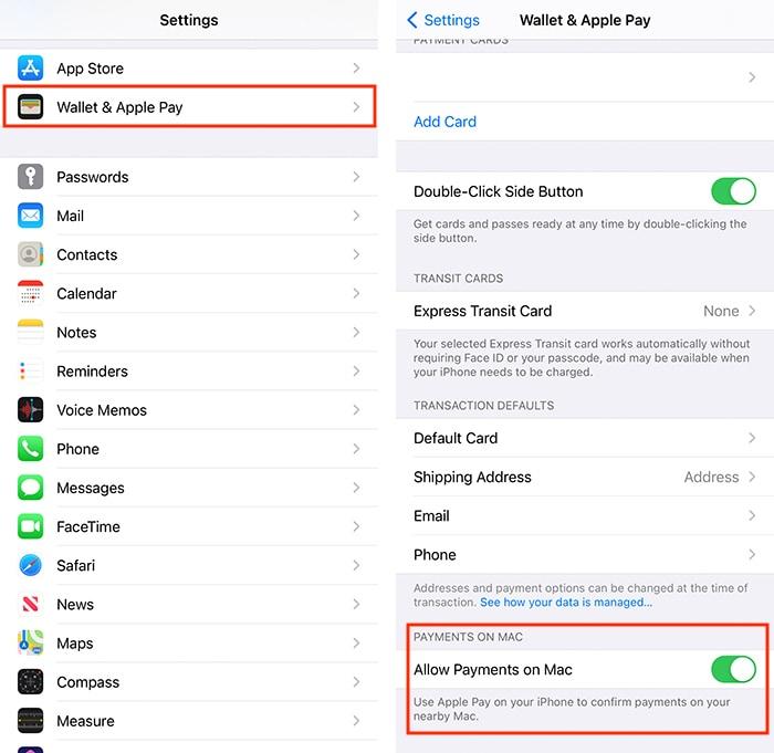Atur Apple Pay yang Mengaktifkan Pembayaran di Mac