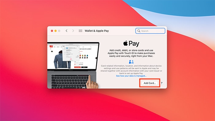 Atur MacOS Apple Pay Wallet