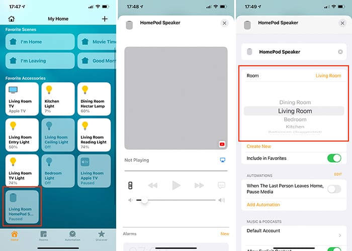قم بإعداد تطبيق Home Theatre Audio Apple Tv Homepod Room Placement Home