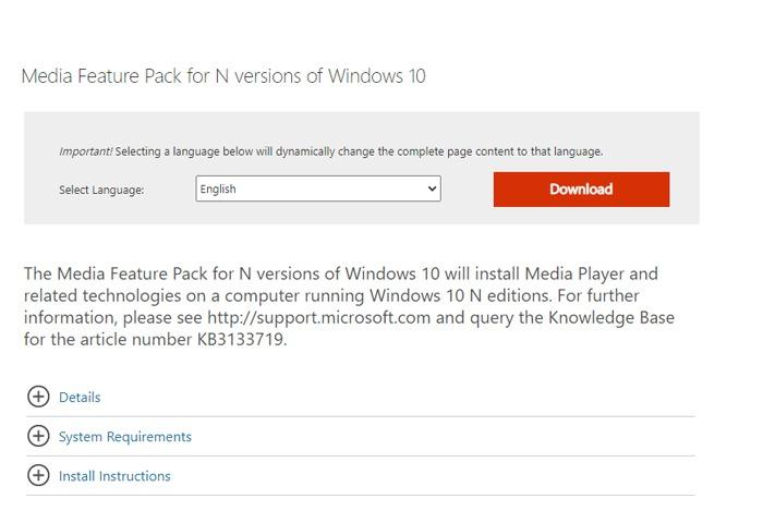 Spotify Web Player Tidak Bekerja Paket Fitur Windows Media
