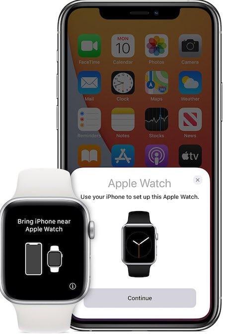 Alihkan Layar Pasangan Pengaturan Apple Watch Iphone
