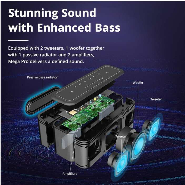 Woofer Speaker Tronsmart Mega Pro