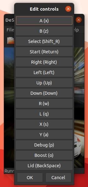 Ds Games Di Linux Dengan Desmume Edit Controls Dialog