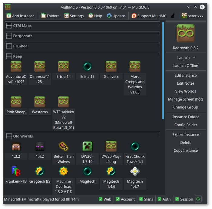 Linux Minecraft Editor Multimc5