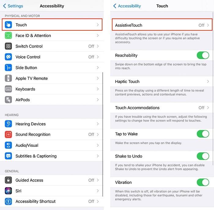 إمكانية الوصول المأجورون Iphone Assistive Touch