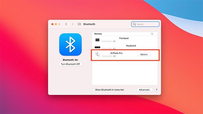 تفضيلات نظام التبديل التلقائي لـ Airpods Bluetooth