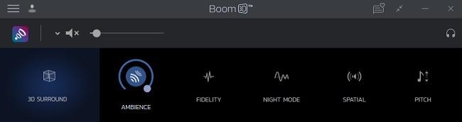 تأثيرات مراجعة سطح المكتب Boom 3D