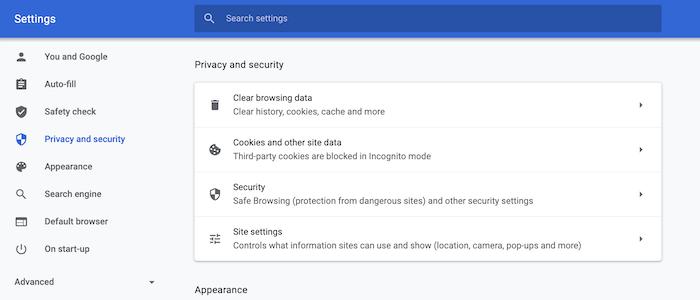يمكن لمتصفح Google Chrome إرسال طلب عدم التعقب إلى مواقع الويب.