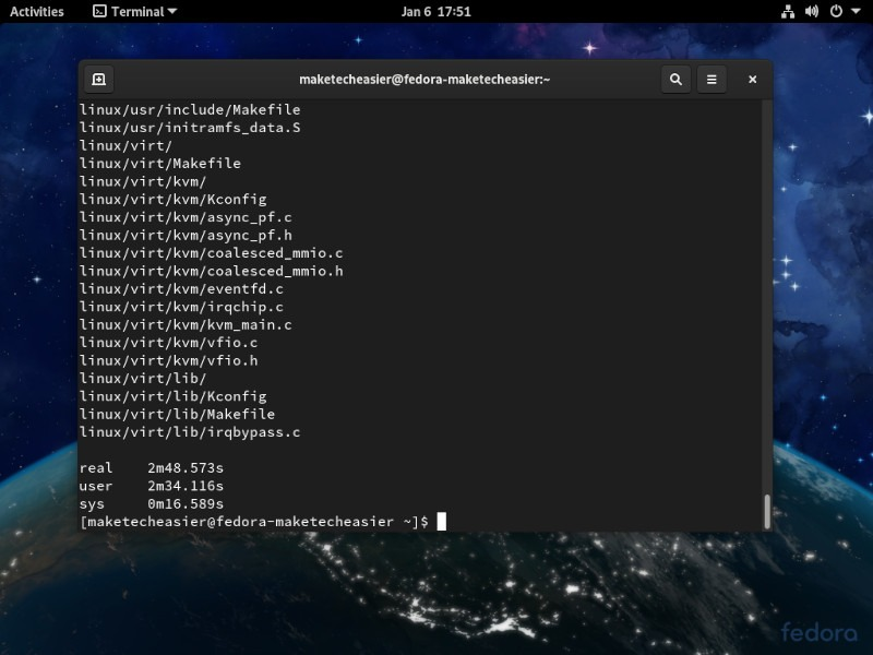 Clear Linux Fedora Time Test
