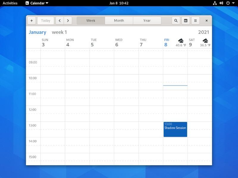 Kalender Integrasi Google Gnome Shell 2