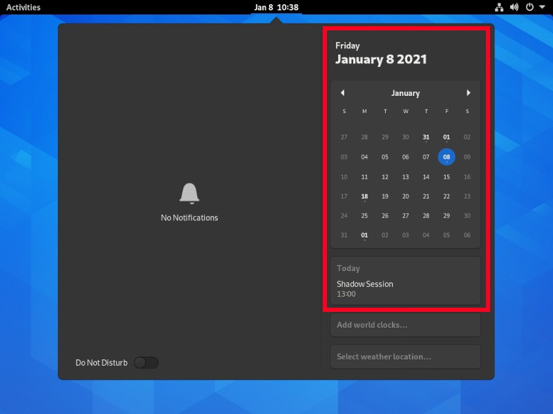 Kalender Integrasi Google Gnome Shell