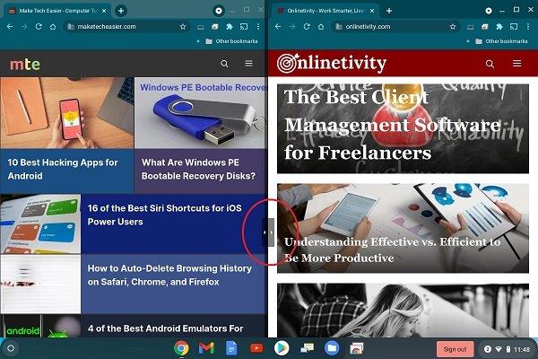 Cara Mengaktifkan Mode Layar Terpisah di Chromebook Adjust