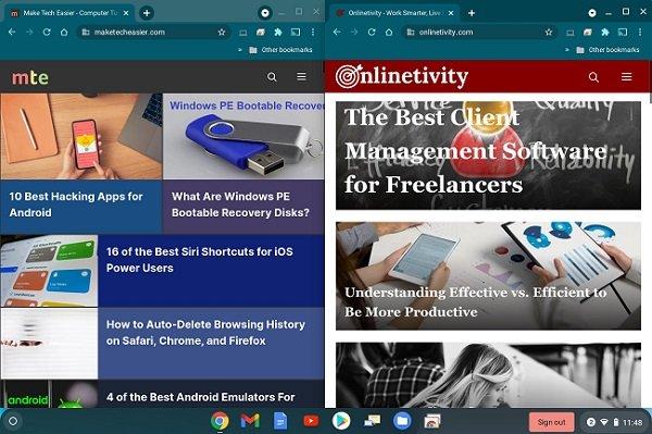 Cara Mengaktifkan Mode Layar Terpisah di Chromebook Kedua