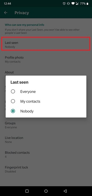كيف تقرأ الرسائل Whatsapp Invisible Last Seen