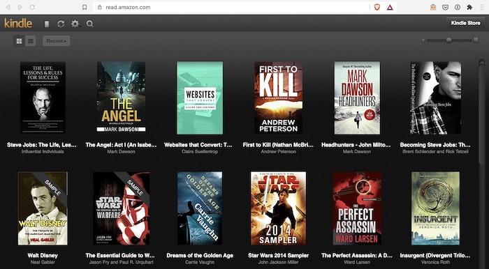 Pilihan Buku Kindle Cloud Reader