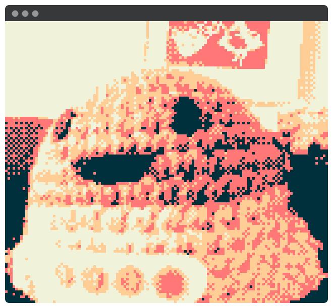 صورة من كاميرا Game Boy تم اختراقها.