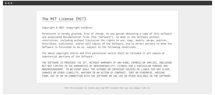 موقع ويب ترخيص MIT.