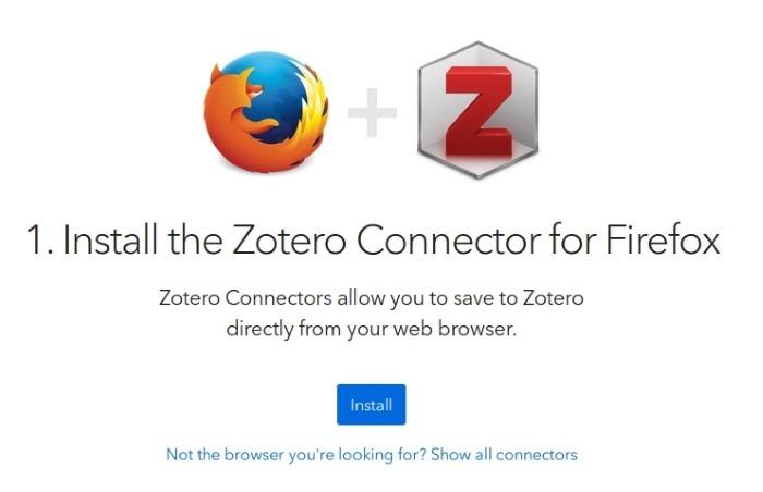 البحث مع Zotero Install Connector