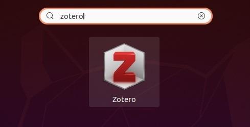 البحث مع Zotero المثبتة