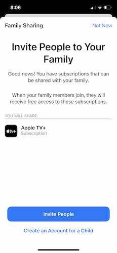 Atur Apple Family Sharing Invite Iphone