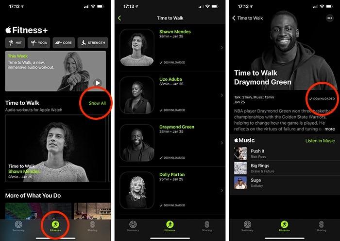 حان الوقت للمشي Apple Watch Iphone Interface Fitness App